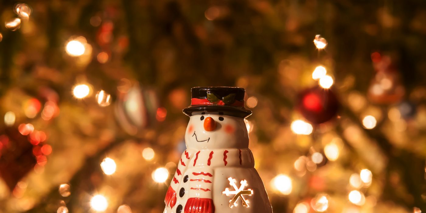 Christmas Candle Snowman With Lights